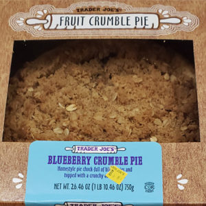 Trader Joe's Blueberry Crumble Pie