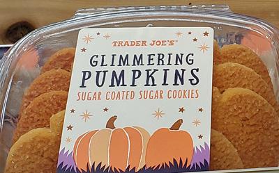 Trader Joe's Glimmering Pumpkins Sugar Cookies