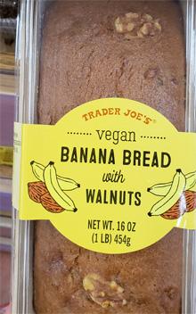 Trader Joe's Vegan Banana Bread with Walnuts
