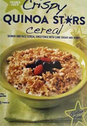 Trader Joe's Crispy Quinoa Stars Cereal