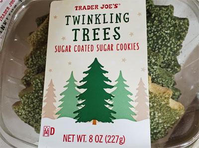 Trader Joe's Twinkling Trees Sugar Coated Sugar Cookies