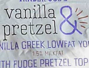 Trader Joe's Vanilla & Pretzel Greek Lowfat Yogurt