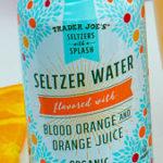 Trader Joe's Blood Orange with Orange Juice Seltzer Water