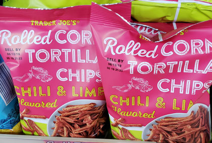 Trader Joe's Rolled Corn Chili & Lime Tortilla Chips