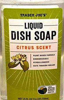 Trader Joe's Citrus Liquid Dish Soap