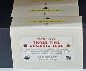 Trader Joe's Three Fine Organic Teas
