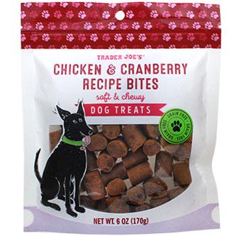 Trader Joe's Chicken & Cranberry Recipe Bites Dog Treats
