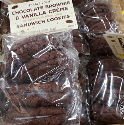 Trader Joe's Chocolate Brownie & Vanilla Creme Sandwich Cookies