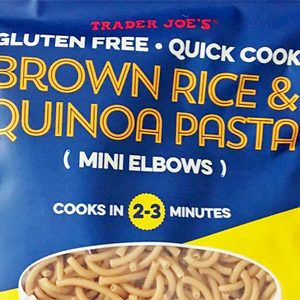 Trader Joe's Quick Cook Brown Rice & Quinoa Pasta (Mini Elbows)
