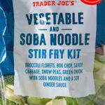 Trader Joe's Vegetable and Soba Noodle Stir Fry Kit