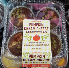 Trader Joe's Pumpkin Cream Cheese Muffins
