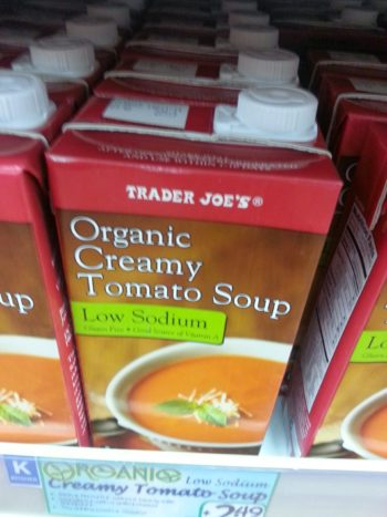 Trader Joe's Organic Creamy Tomato Soup Low Sodium Reviews