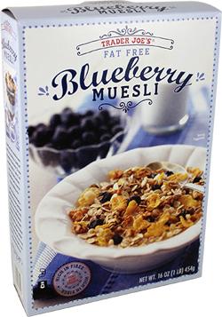 Trader Joe's Fat Free Blueberry Muesli