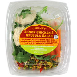 Trader Joe's Lemon Chicken & Arugulua Salad