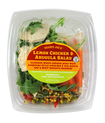 Trader Joe's Lemon Chicken & Arugulua Salad