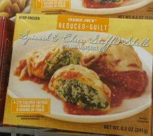 Trader Joe's Spinach & Cheese Stuffed Shells with Marinara Sauce