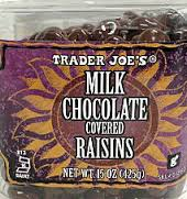 Trader Joe's Milk Chocolate Covered Raisins