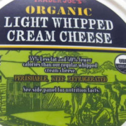 Trader Joe's Organic Light Whipped Cream Cheese