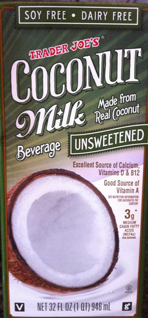 Trader Joe's Unsweetened Coconut Milk Beverage