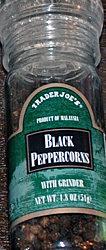 Trader Joe's Black Peppercorn Grinder