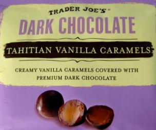 Trader Joe's Dark Chocolate Tahitian Vanilla Caramels