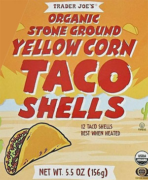 Trader Joe's Organic Stone Ground Yellow Corn Taco Shells