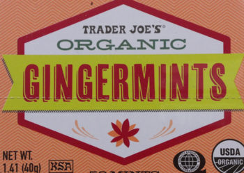 Trader Joe's Organic Ginger Mints