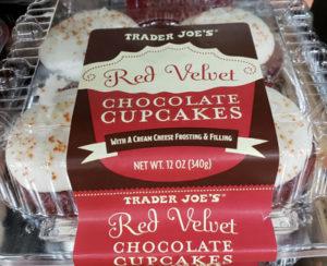 Trader Joe's Red Velvet Chocolate Cupcakes
