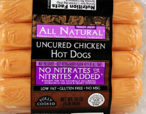 Trader Joe's Uncured Chicken Hot Dogs