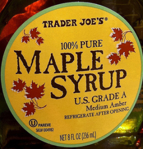 Trader Joe's 100% Pure Grade A Medium Amber Maple Syrup