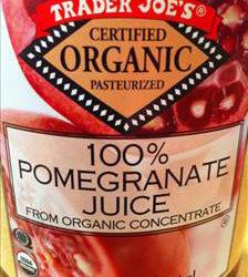 Trader Joe's Organic 100% Pomegranate Juice