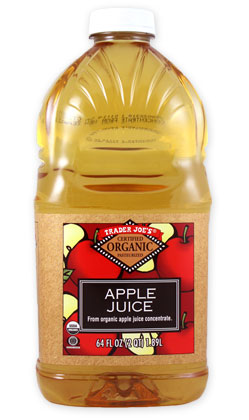 Trader Joe's Organic Apple Juice