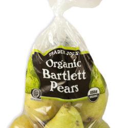 Trader Joe's Organic Bartlett Pears