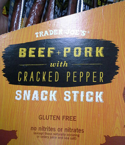 Trader Joe's Beef & Pork with Cracked Pepper Snack Sticks
