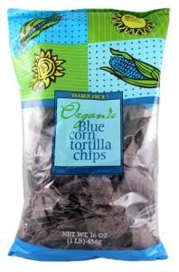 Trader Joe's Organic Stone Ground Blue Corn Chips