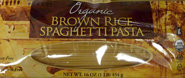 Trader Joe's Organic Brown Rice Spaghetti Pasta