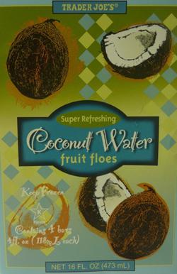 Trader Joe's Coconut Water Fruit Floes