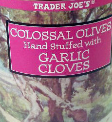 Trader Joe's Colossal Olives Hand Stuffed With Garlic Cloves