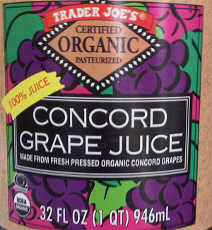 Trader Joe's Organic Concord Grape Juice