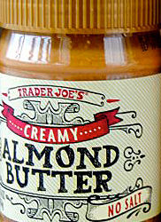 Trader Joe's Unsalted Creamy Almond Butter