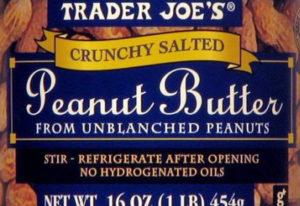 Trader Joe's Crunchy Salted Peanut Butter