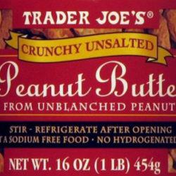 Trader Joe's Crunchy Unsalted Peanut Butter