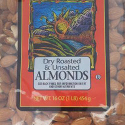 Trader Joe's Dry Roasted & Unsalted Almonds