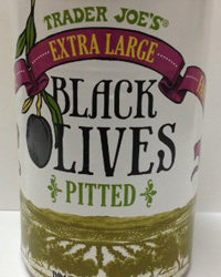 Trader Joe's Extra Large Pitted Black Olives