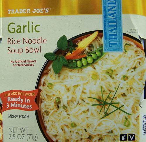Trader Joe's Garlic Rice Noodle Soup Bowl