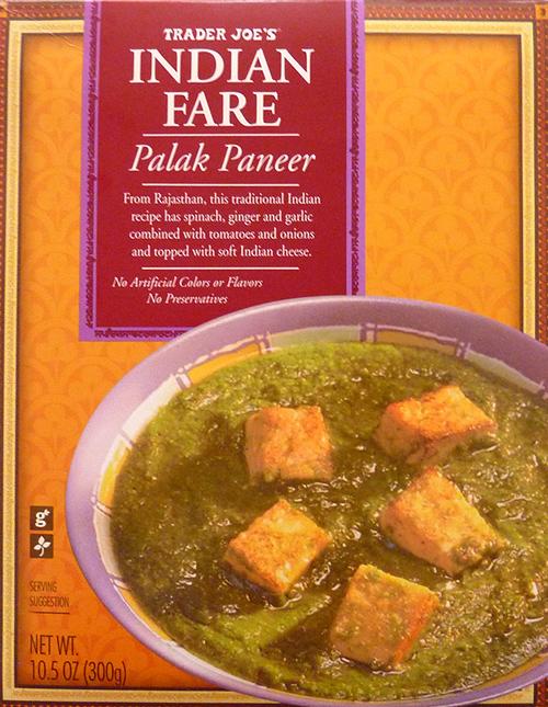 Trader Joe's Indian Fare Palak Paneer