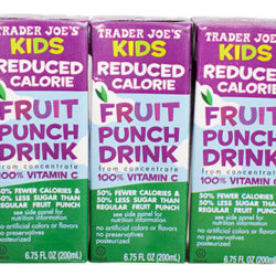 Trader Joe's Kids Reduced Calorie Fruit Punch Juice Boxes