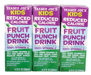 Trader Joe's Kids Reduced Calorie Fruit Punch Juice Boxes