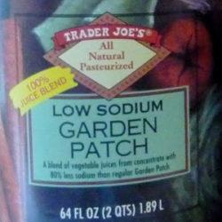 Trader Joe's Low Sodium Garden Patch Juice