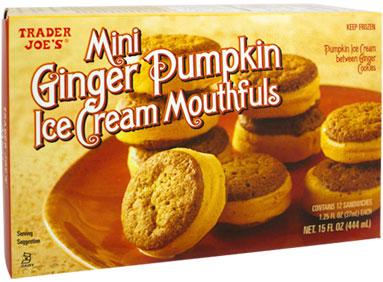 Trader Joe's Mini Ginger Pumpkin Ice Cream Mouthfuls